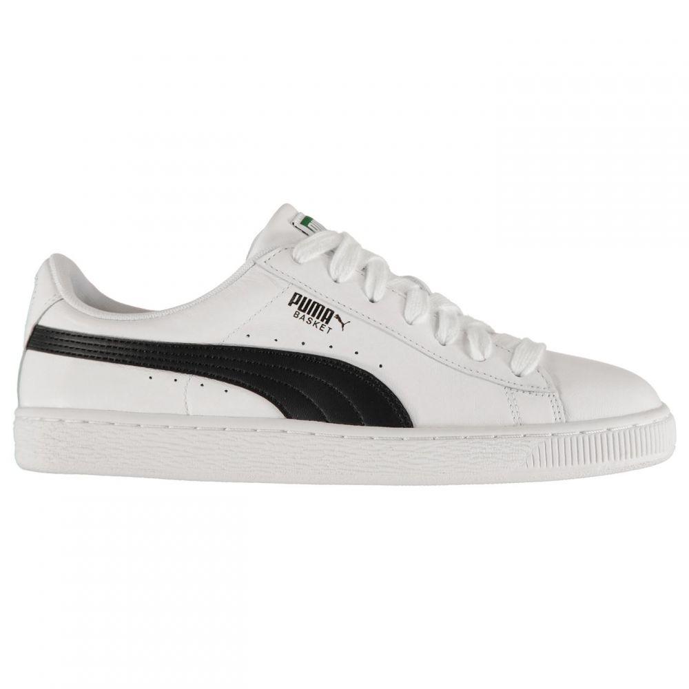 プーマ Puma メンズ スニーカー シューズ・靴【Basket Leather Trainers】White/Black