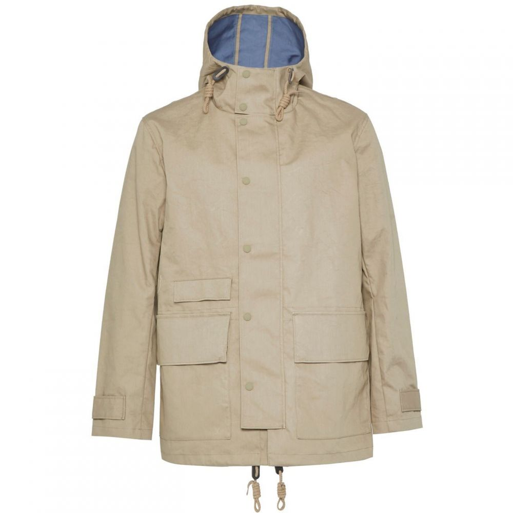 フレンチコネクション French Connection メンズ レインコート アウター【Bonded Cotton Hooded Rain Mac】Beige