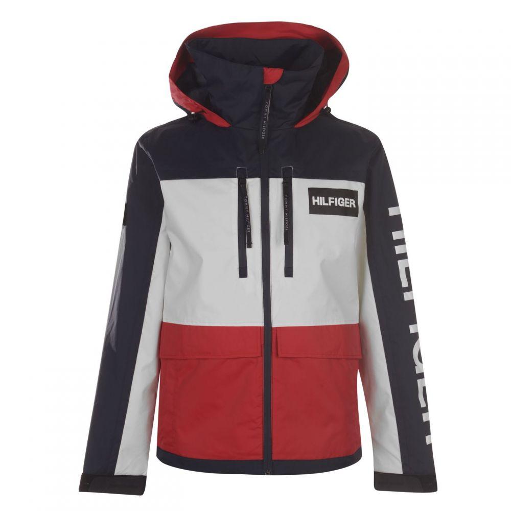 トミー ヒルフィガー Tommy Hilfiger メンズ ジャケット フード アウター【Tech Hooded Jacket】Haute Red