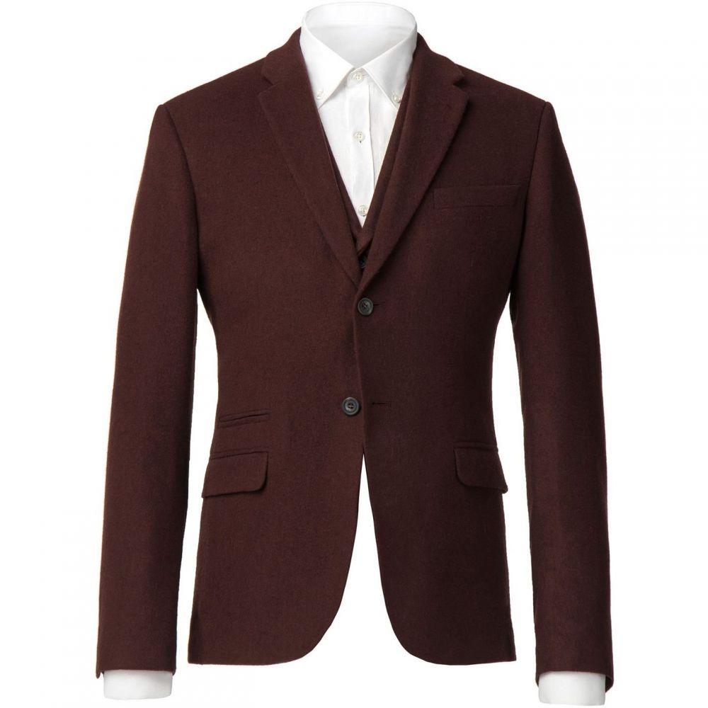 レーシング グリーン Racing Green メンズ スーツ・ジャケット アウター【Dowell Rust Flannel Tailored Jacket】Rust