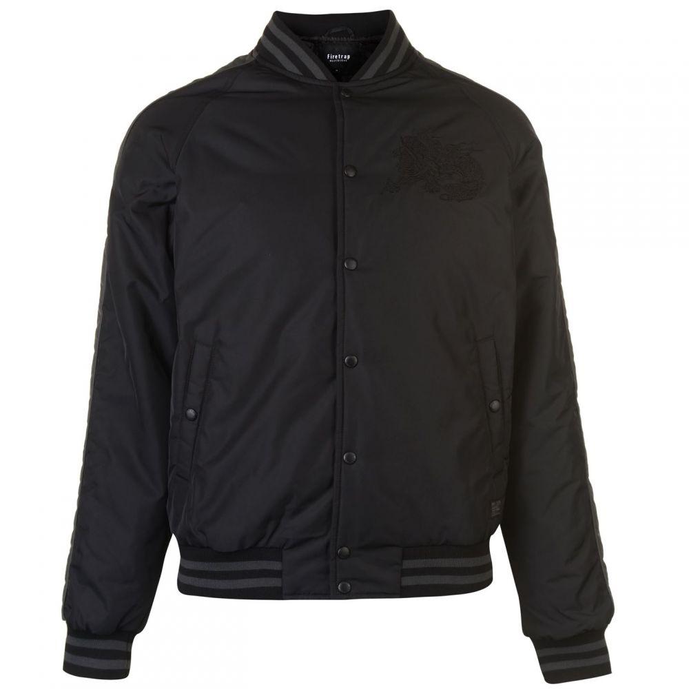 ファイヤートラップ Firetrap メンズ ブルゾン ミリタリージャケット アウター【Embroidered Bomber Jacket】Black