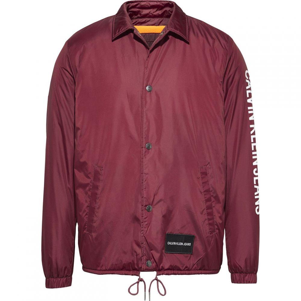 カルバンクライン Calvin Klein Jeans メンズ ブルゾン ミリタリージャケット コーチジャケット アウター【CK Jeans Coach Bomber Jacket】Burgundy
