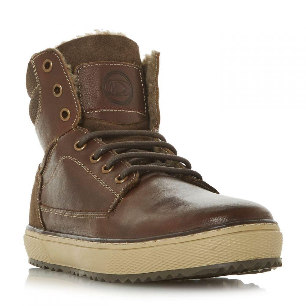 デューン Dune メンズ ブーツ レースアップブーツ シューズ・靴【Solar Borg Lined Lace Up Boots】Brown