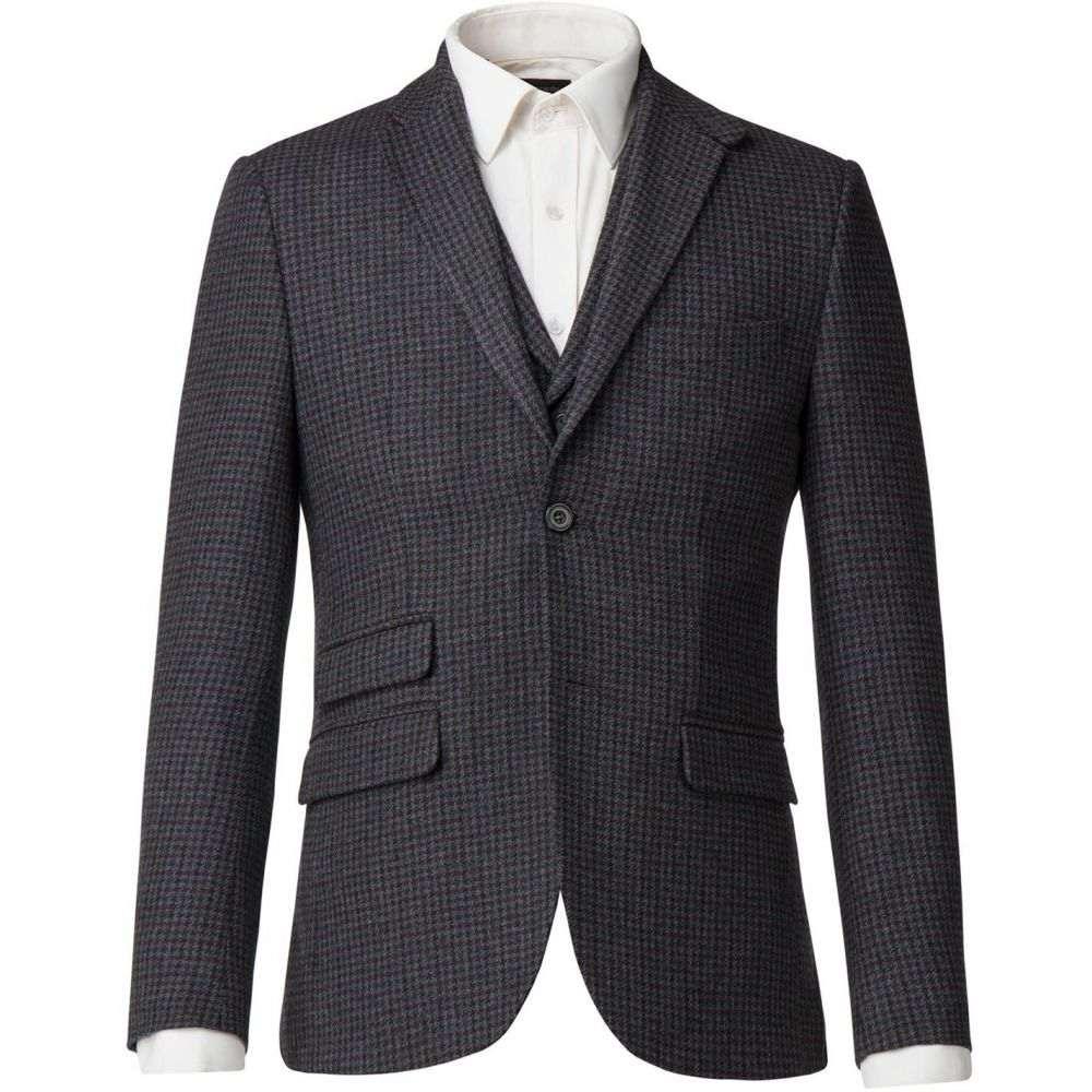 レーシング グリーン Racing Green メンズ ジャケット アウター【Lupin Grey Puppytooth Jacket】Grey