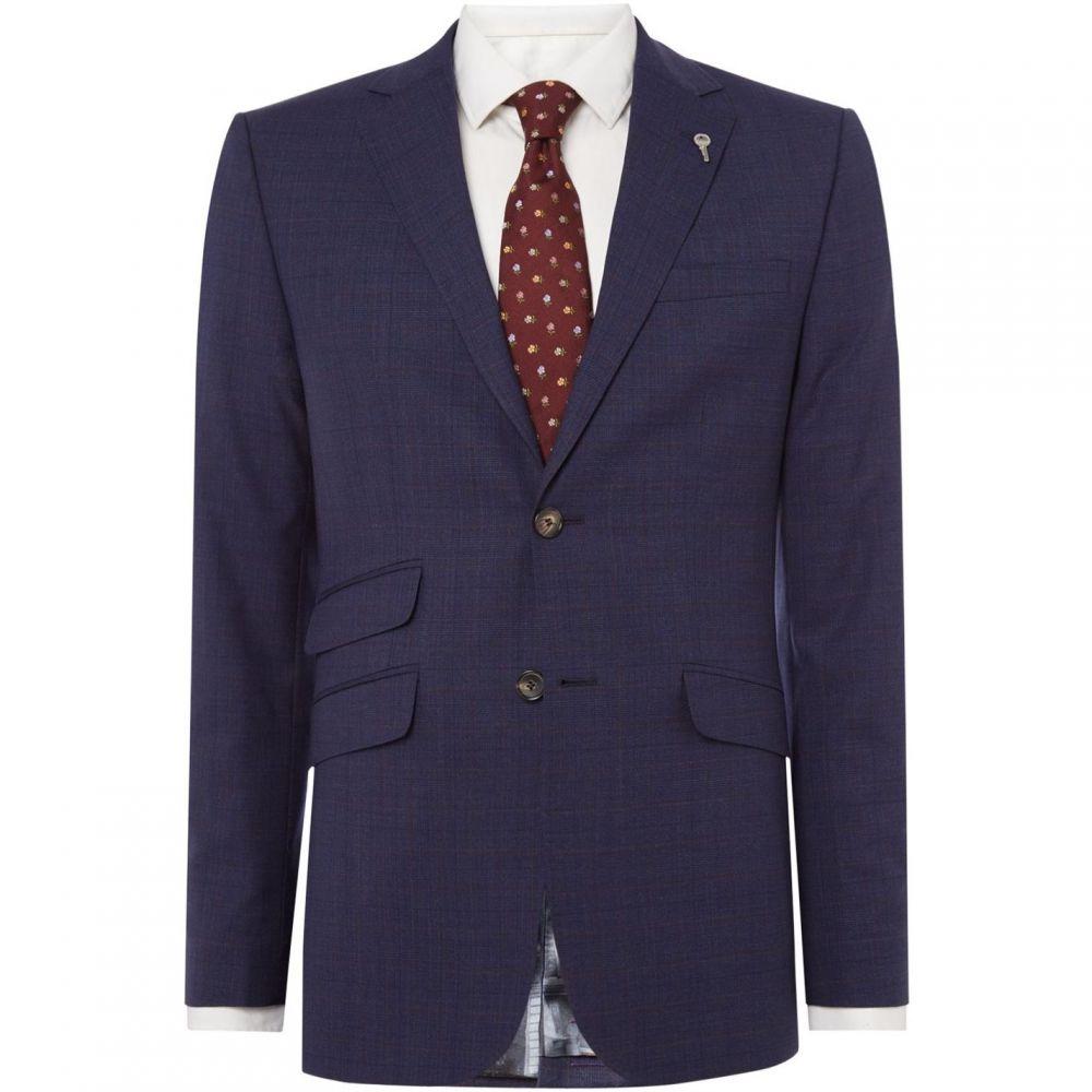 <title>テッドベーカー メンズ 2020 アウター スーツ ジャケット サイズ交換無料 Ted Baker Pow Faint Check Suit Jacket Blue</title>