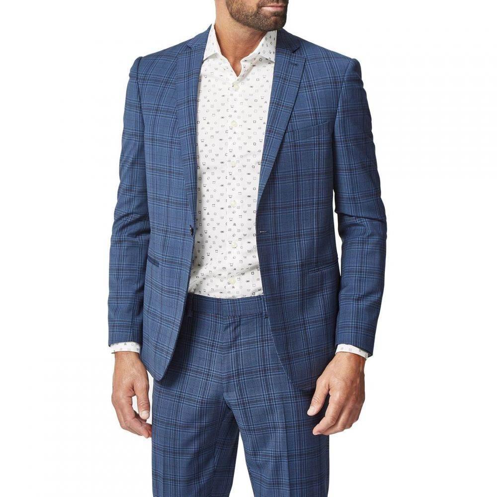 サイモン カーター Simon Carter メンズ スーツ・ジャケット アウター【Large Check Suit Jacket】Blue