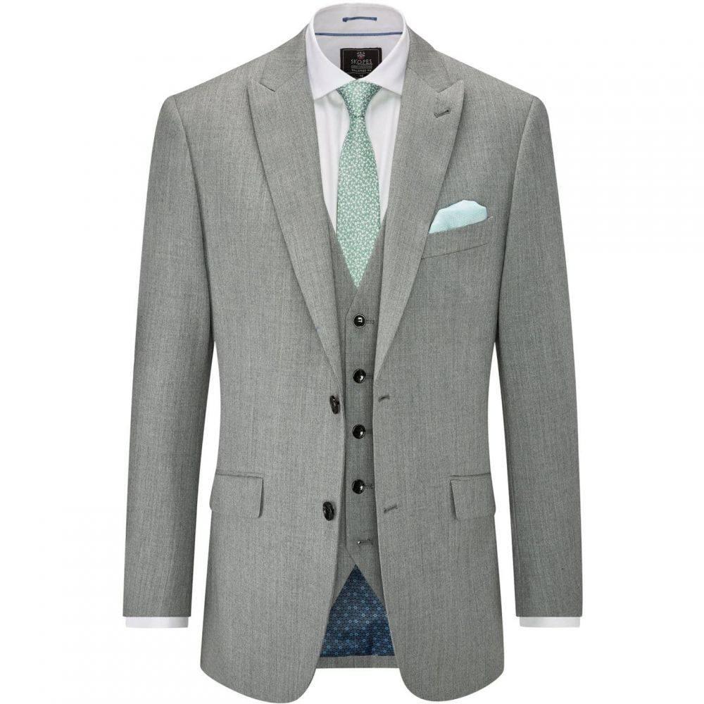 Suit スコープス メンズ スーツ・ジャケット アウター【Alston Skopes Grey Jacket】Light Wool