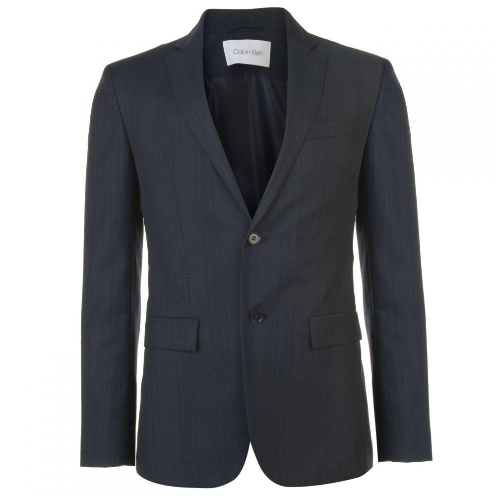 カルバンクライン Calvin Klein Tailoring メンズ スーツ・ジャケット アウター【Calvin Checked Blazer】Navy
