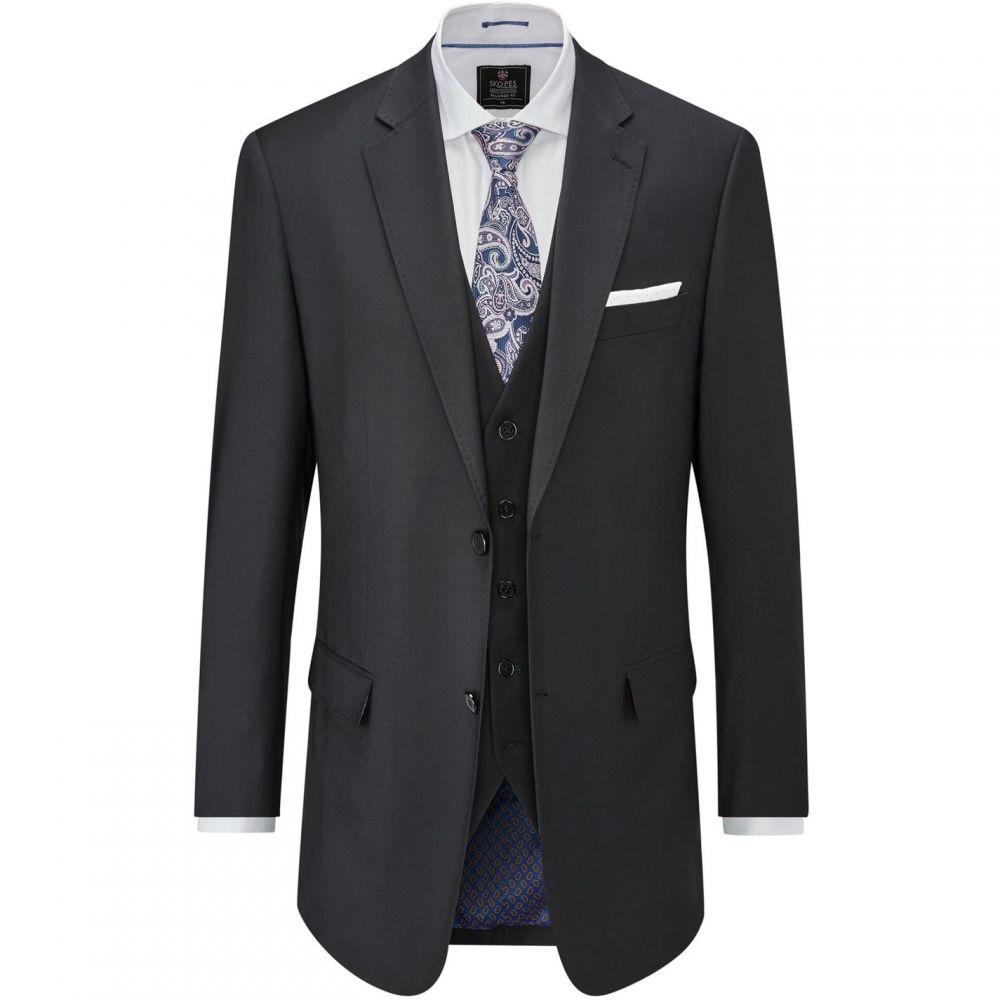 スコープス Skopes メンズ スーツ・ジャケット アウター【Hatcher Wool Rich Suit Jacket】Black