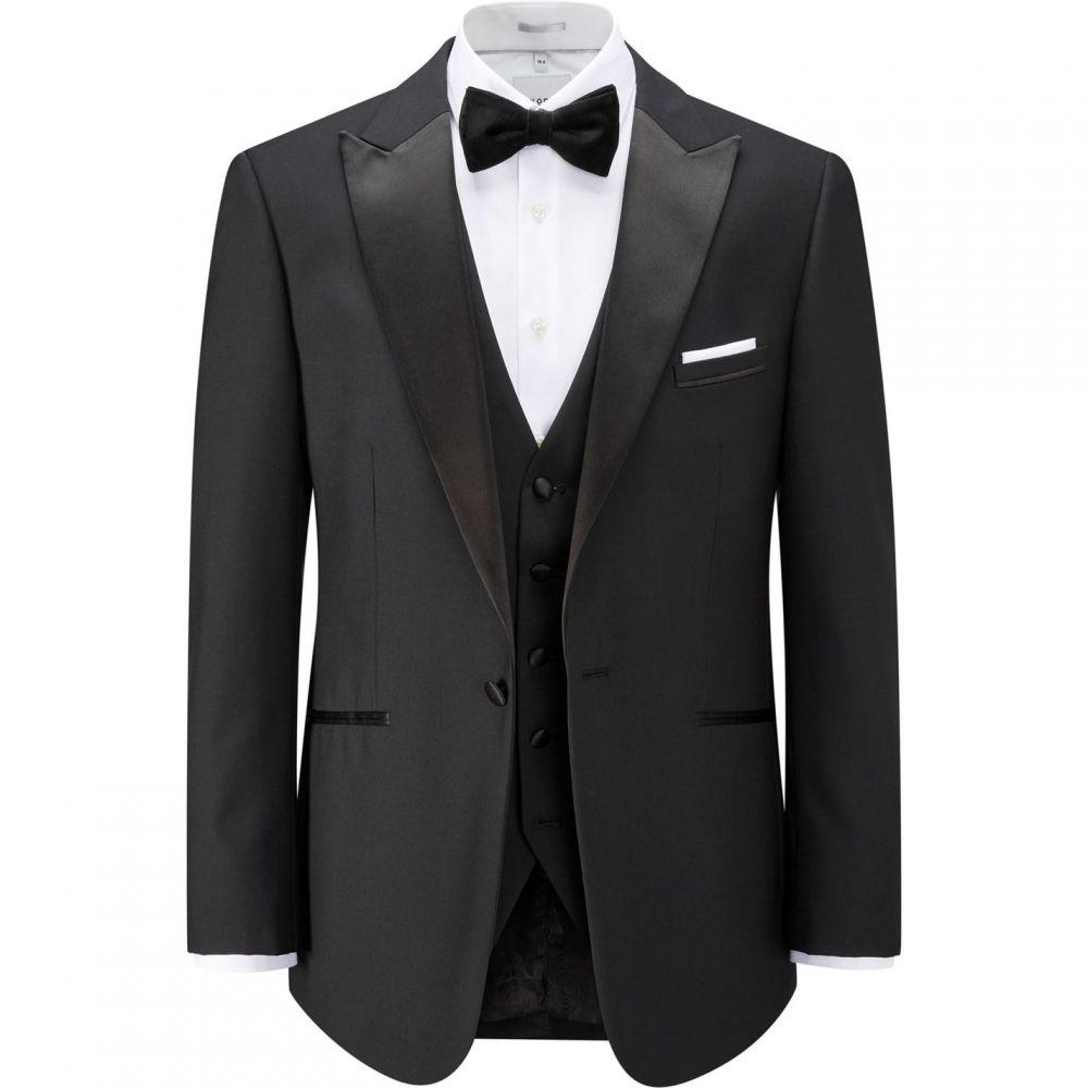 スコープス Skopes メンズ スーツ・ジャケット アウター【Barney Wool Blend Suit Jacket】Black