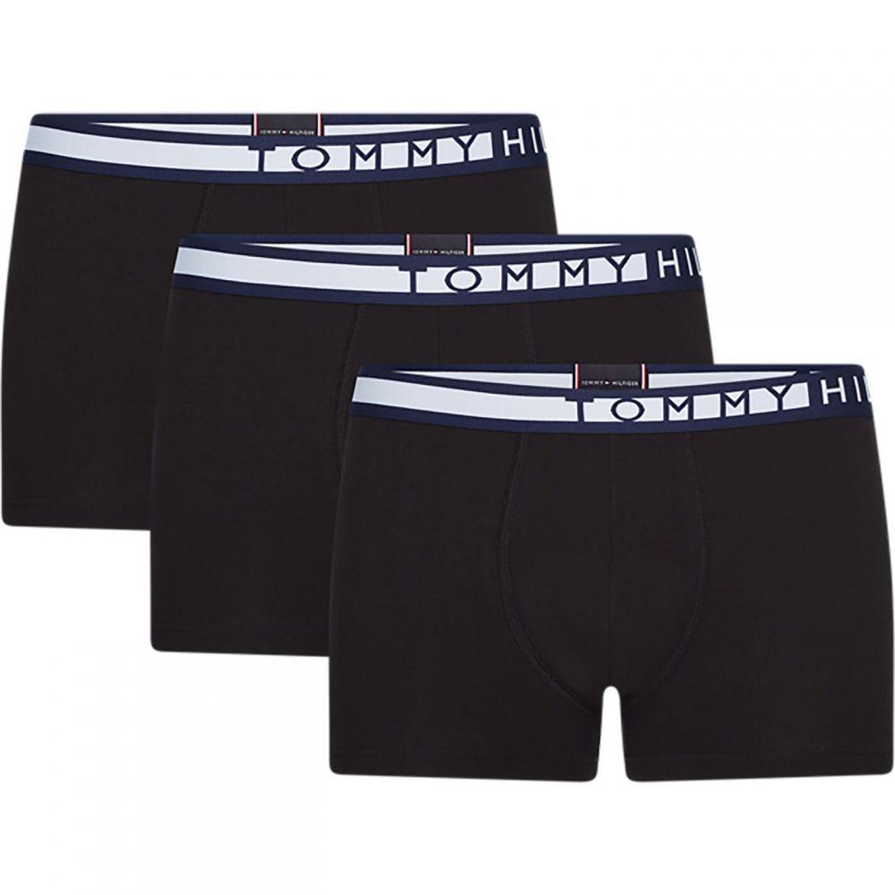 トミー ヒルフィガー Tommy Bodywear メンズ ボクサーパンツ 3点セット インナー・下着【3pk Side Boxer Sn02】PVH Black