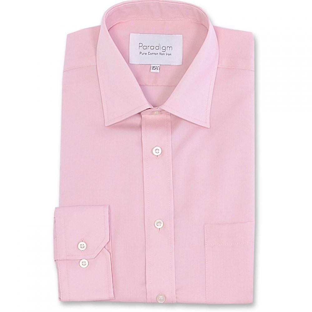 パラダイム Paradigm メンズ シャツ トップス【Single Cuff 100% Cotton Non-Iron Shirt】Blue