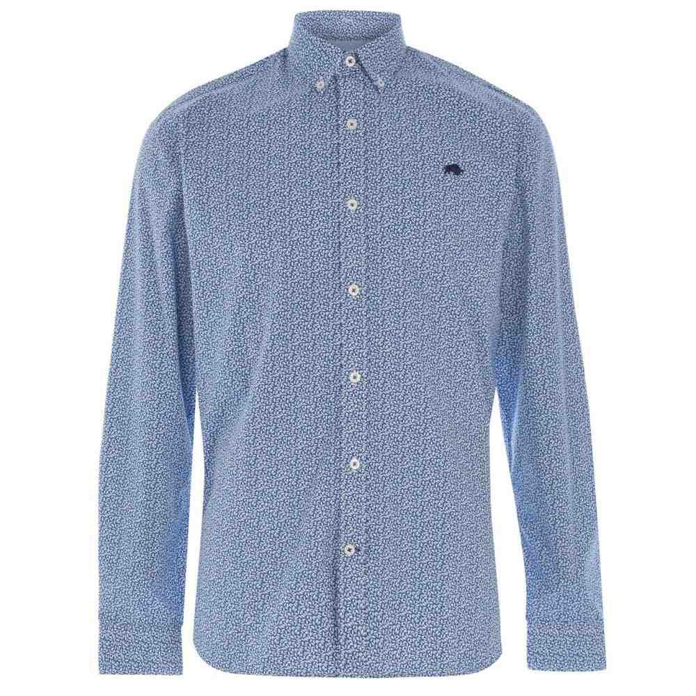 ライジング ブル Raging Bull メンズ シャツ トップス【Raging Long Sleeve Leaf Shirt】Cobalt Blue