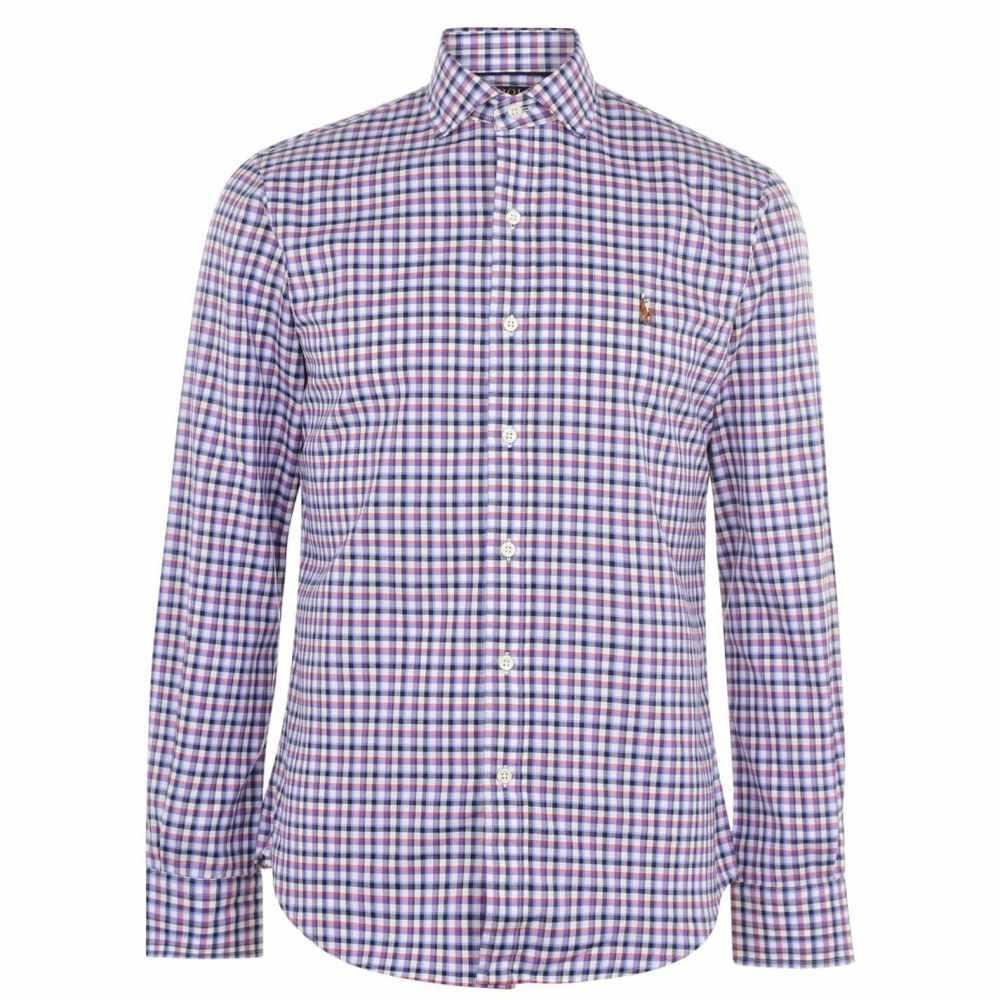 ラルフ ローレン Polo Ralph Lauren メンズ シャツ トップス【Long Sleeve Gingham Shirt】Copper/Purpl
