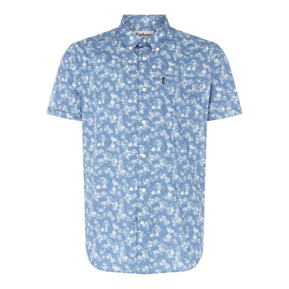 バブアー Barbour Lifestyle メンズ 半袖シャツ トップス【Printed Short Sleeve Shirt】Chambray BL