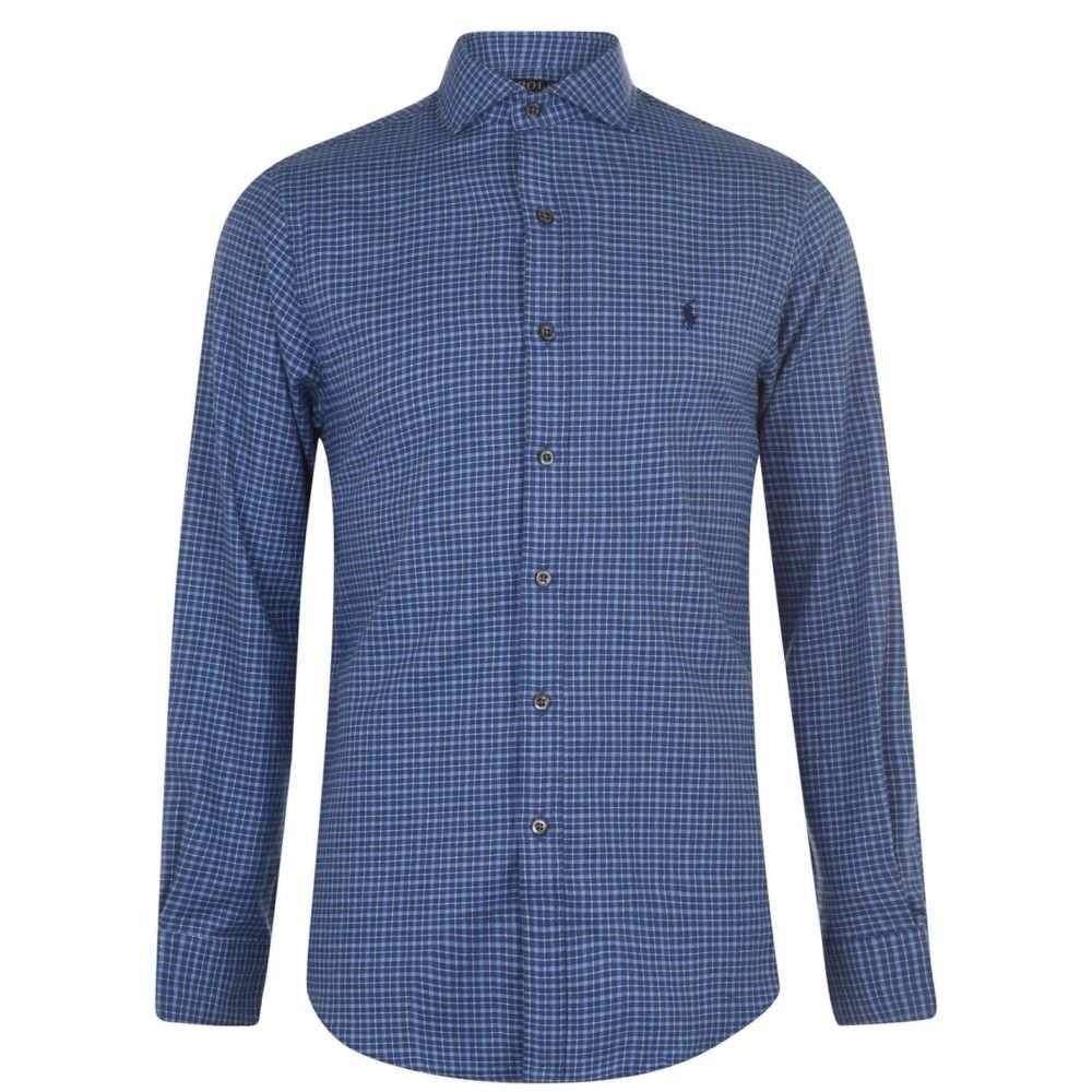 ラルフ ローレン Polo Ralph Lauren メンズ シャツ トップス【Slim Fit Check Twill Shirt】C Blue/White