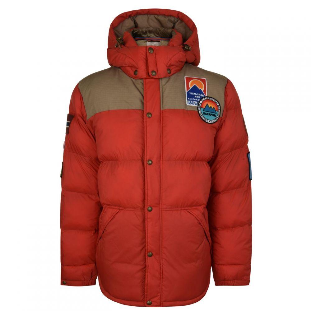 ナパピリ NAPAPIJRI メンズ ダウン・中綿ジャケット アウター【Artic Puffer Jacket】Orange Red