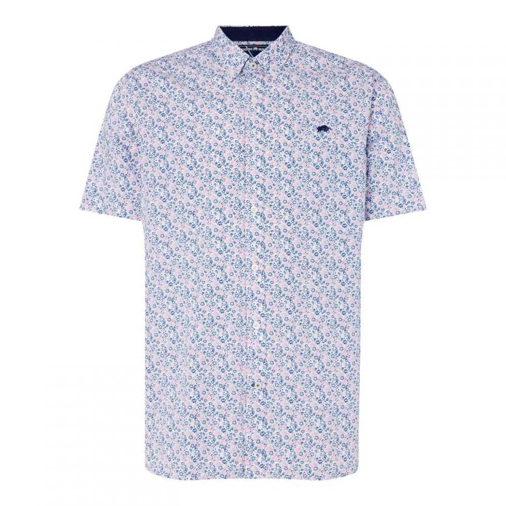 ライジング ブル Raging Bull メンズ 半袖シャツ トップス【Short Sleeve Micro Floral Print Shirt】Vivid Pink