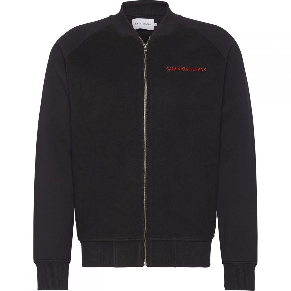 カルバンクライン Calvin Klein Jeans メンズ ブルゾン ミリタリージャケット アウター【Fleece Bomber Jacket】Black