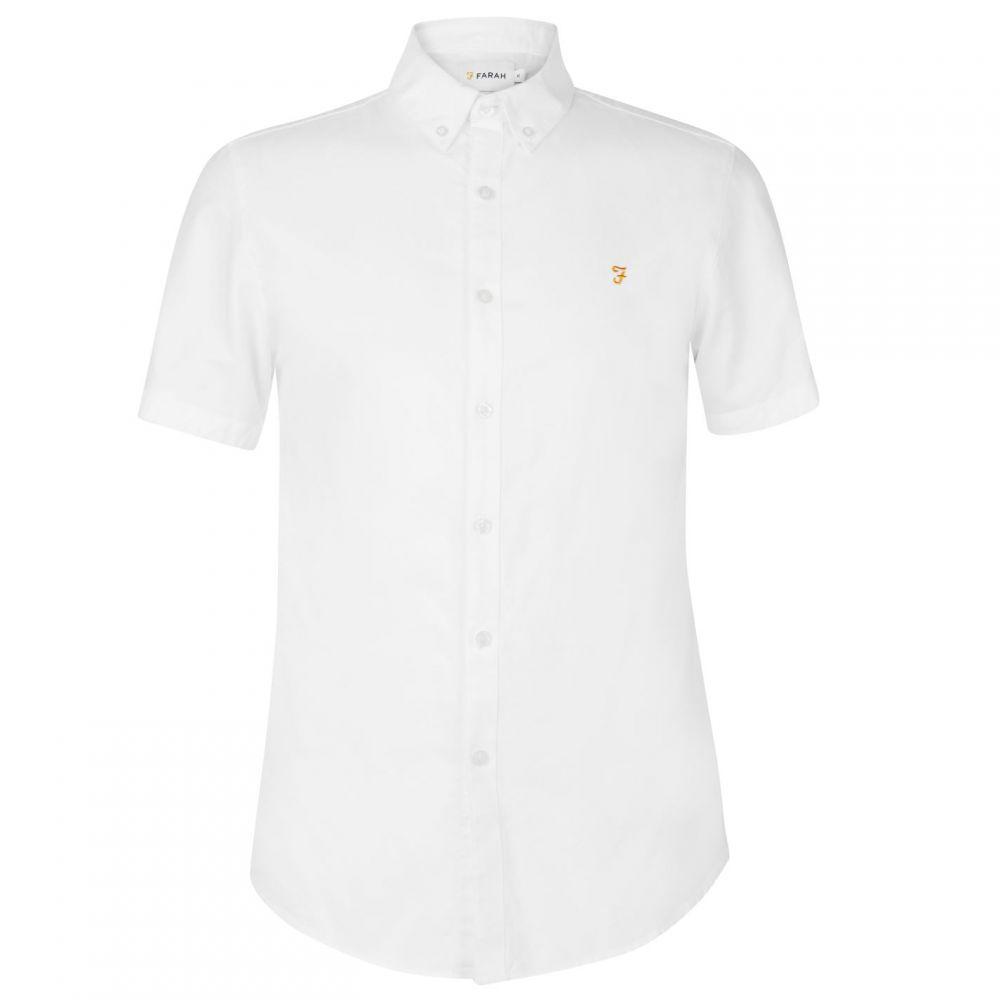ファーラーヴィンテージ Farah Vintage メンズ 半袖シャツ トップス【Farah Brewer Short Sleeved Shirt】White