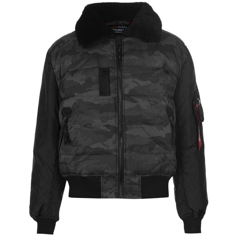 アルファ インダストリーズ Alpha Industries メンズ ジャケット アウター【Padded Jacket】Black Camo