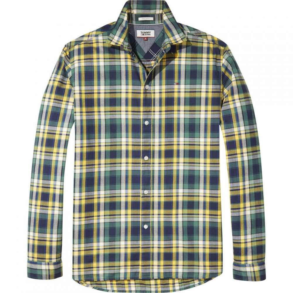 トミー ヒルフィガー Tommy Hilfiger メンズ シャツ トップス【Tommy Jeans Check Shirt】Yellow