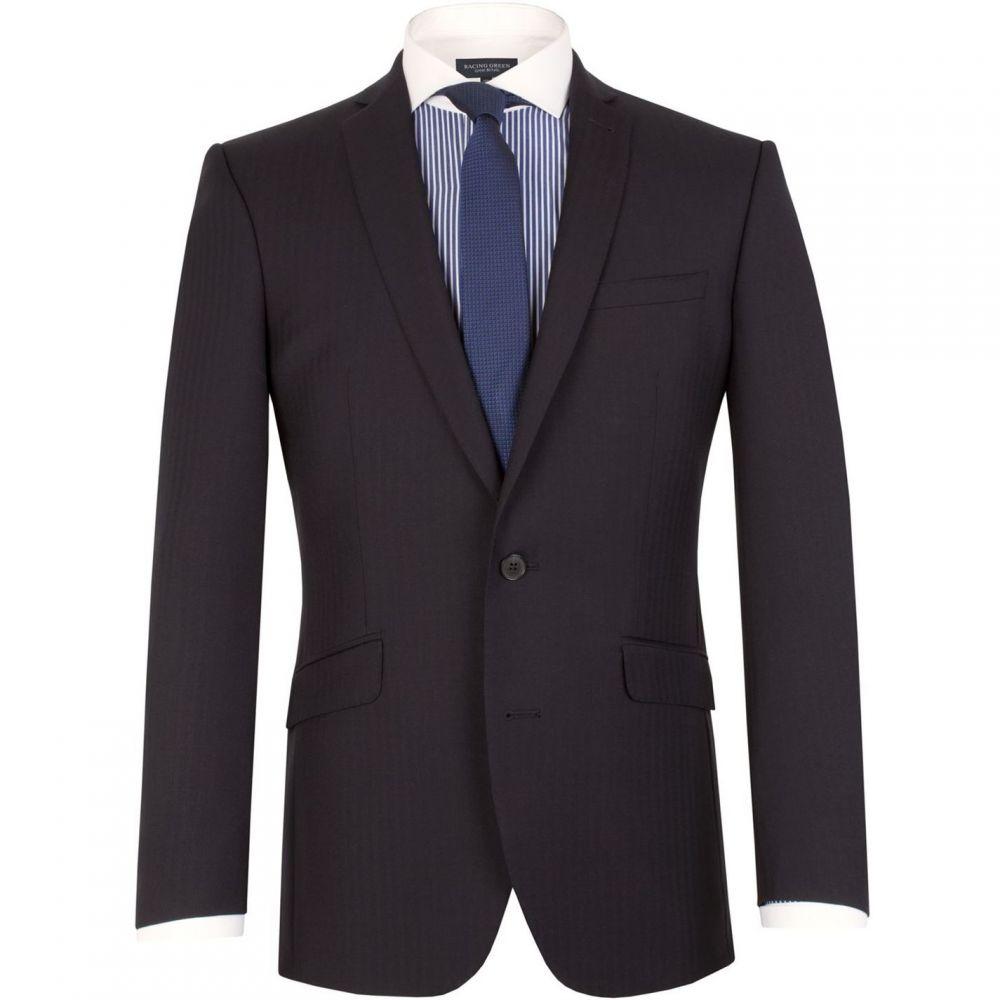 レーシング グリーン Racing Green メンズ スーツ・ジャケット アウター【Notch Collar Tailored Fit Suit Jacket】Navy