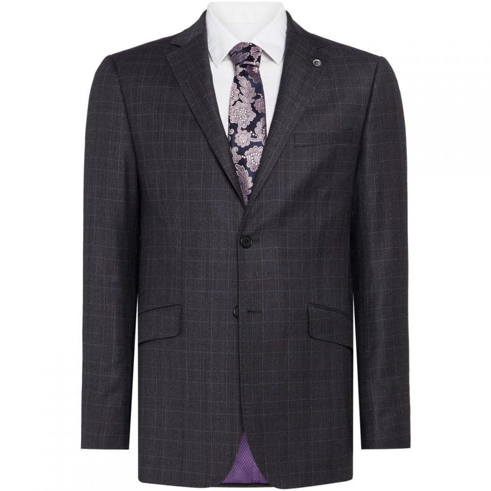 スーツ・ジャケット テッドベーカー Ted Baker Suit Timeless メンズ Check アウター【Bishop Jacket】Grey