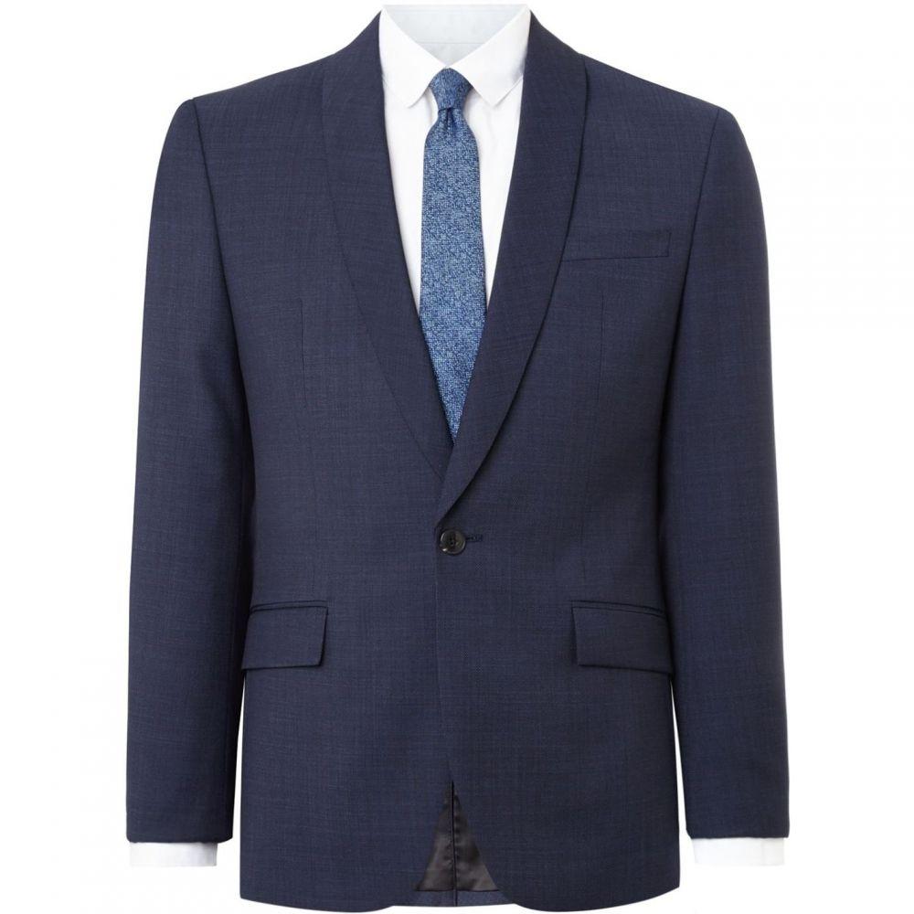 ケネス コール Kenneth Cole メンズ スーツ・ジャケット アウター【Henson Shawl Pindot Slim Fit Suit Jacket】Navy