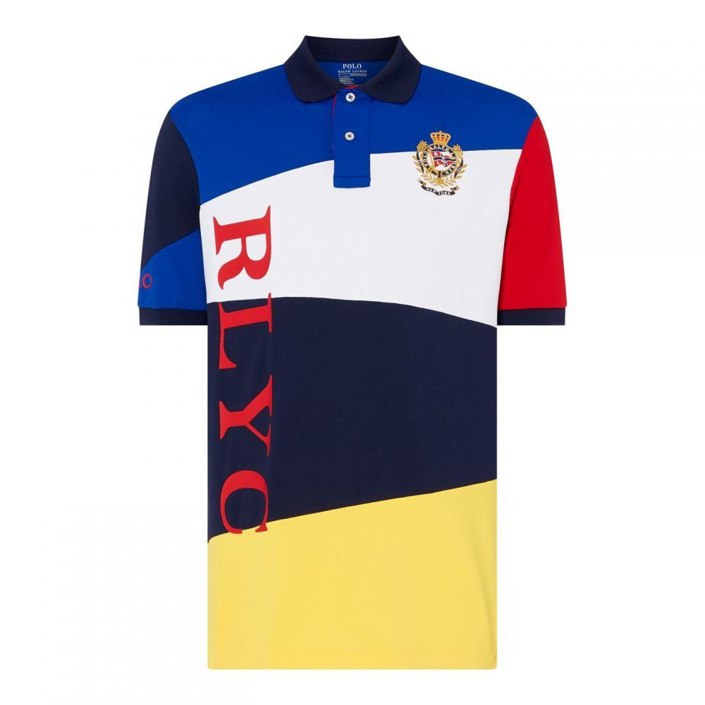 ラルフ ローレン Polo Ralph Lauren メンズ ポロシャツ トップス【Tech Splice Polo Shirt】Saphire Star