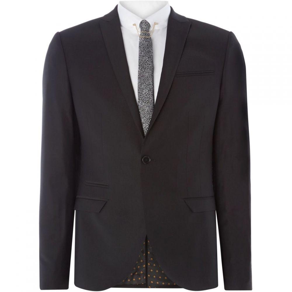 レーベルラボ Label Lab メンズ スーツ・ジャケット アウター【Rutherford Peak Lapel Skinny Suit Jacket】Black:フェルマート