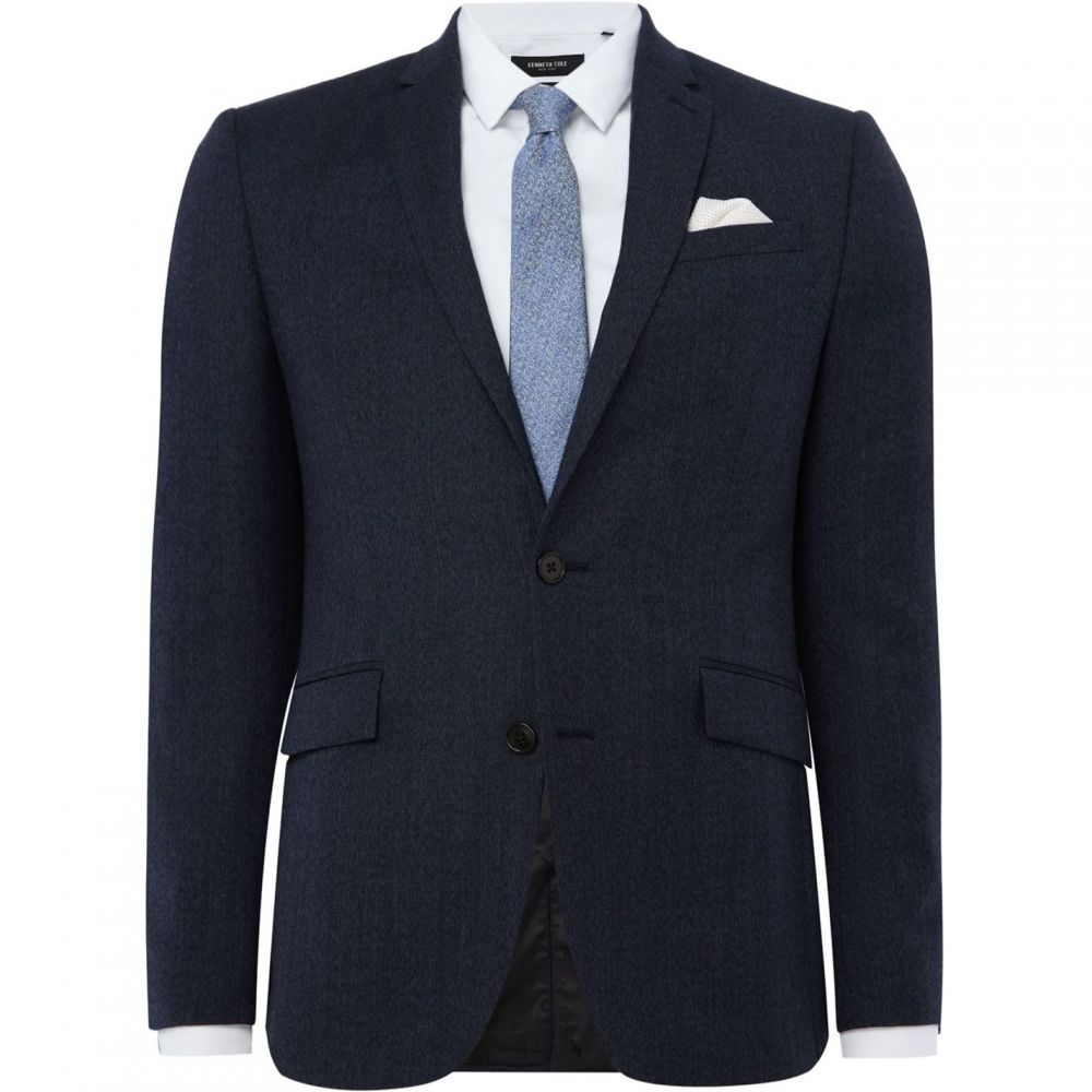 ケネス コール Kenneth Cole メンズ スーツ・ジャケット アウター【Wade Slim Fit Textured Suit Jacket】Denim