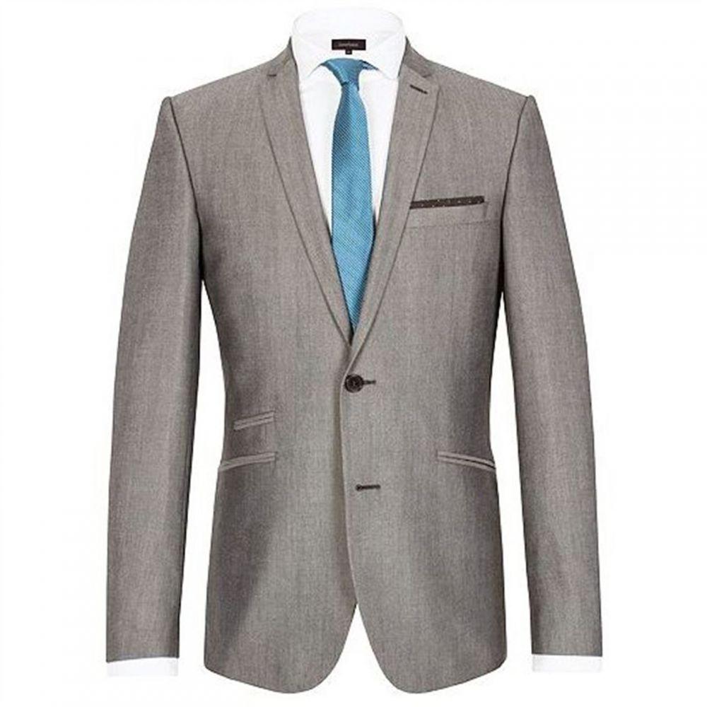 ライムハウス Limehaus メンズ スーツ・ジャケット アウター【Stevenson Tonic Slim Fit Jacket】Grey
