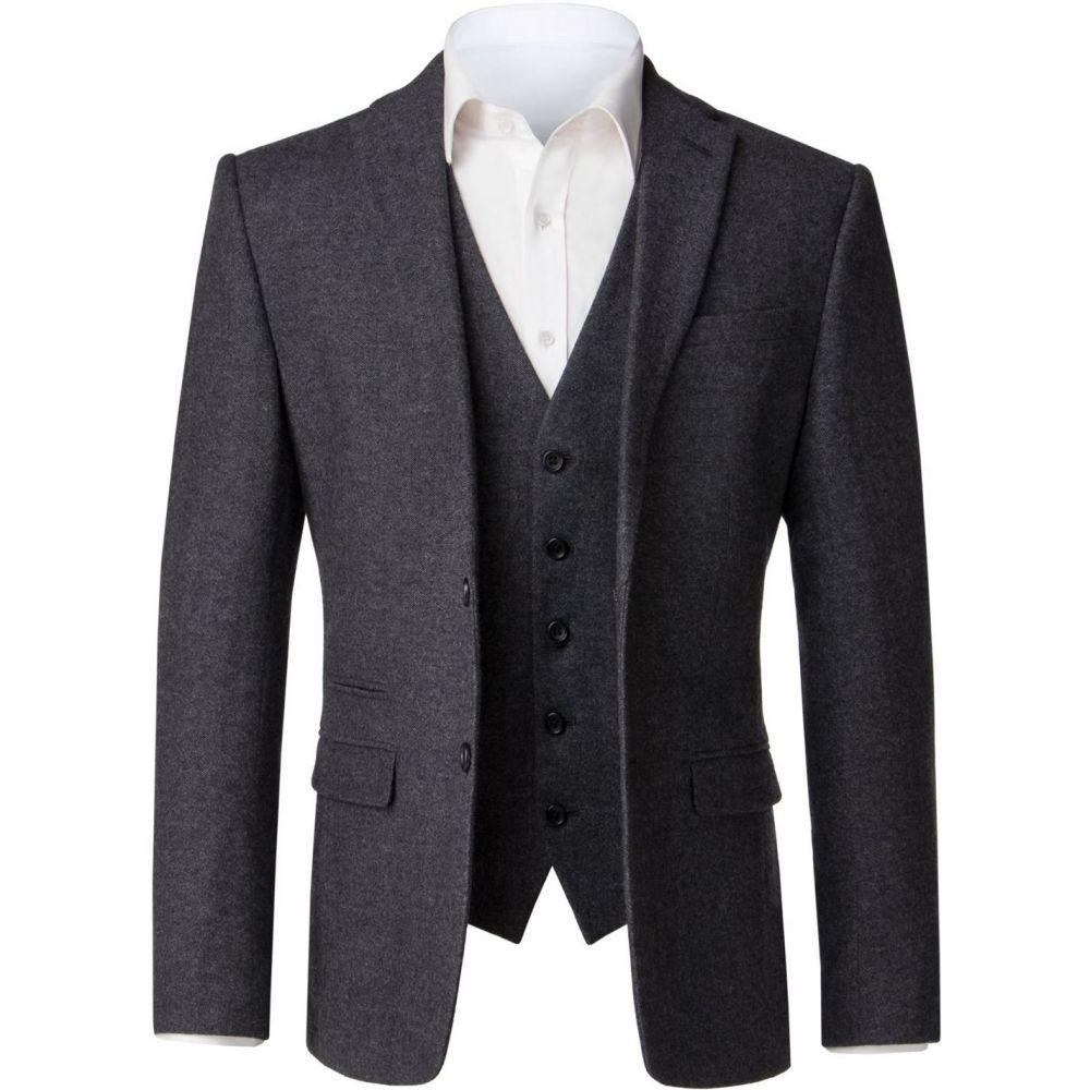 ライムハウス Limehaus メンズ スーツ・ジャケット アウター【Jonny Grey Donegal Jacket】Grey