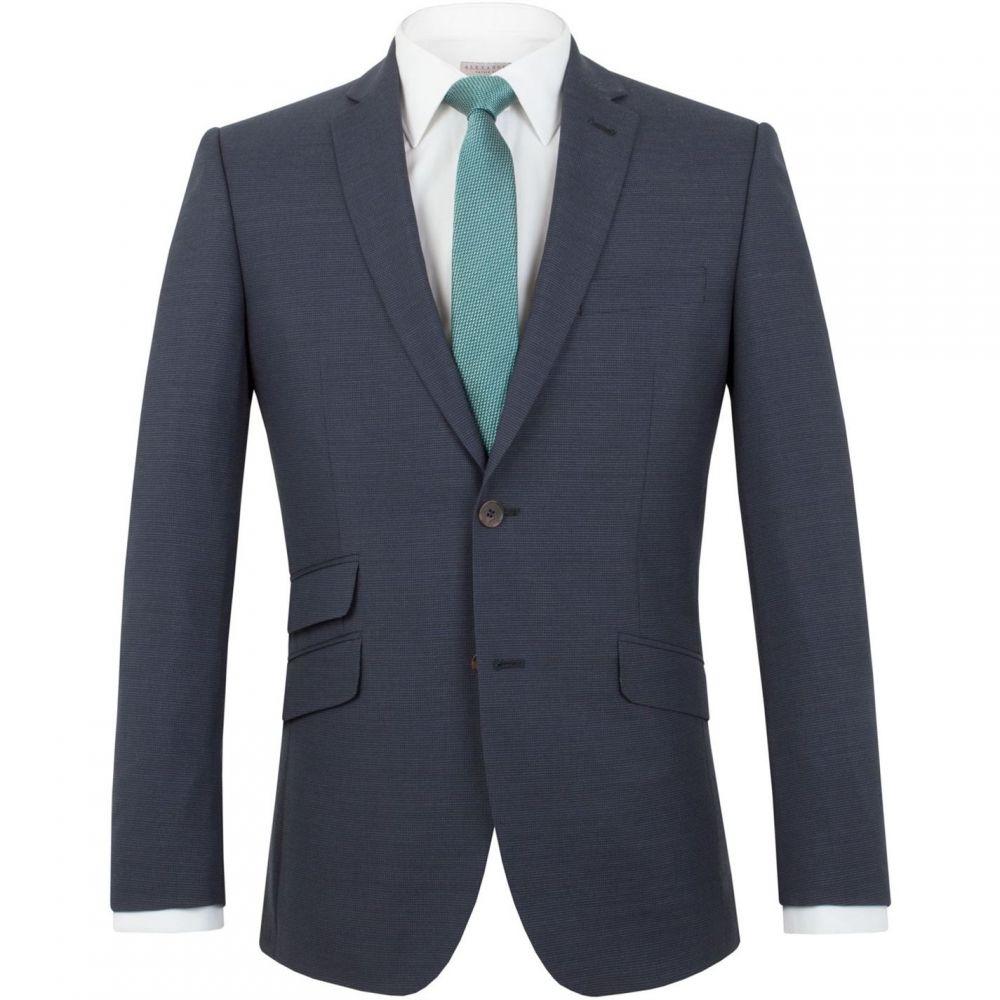 レーシング グリーン Racing Green メンズ スーツ・ジャケット アウター【Ward puppytooth tailored jacket】Navy