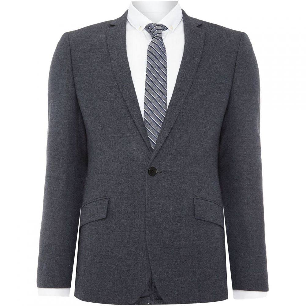 ケネス コール Kenneth Cole メンズ スーツ・ジャケット アウター【Jonathon SB1 textured notch lapel suit jacket】Charcoal