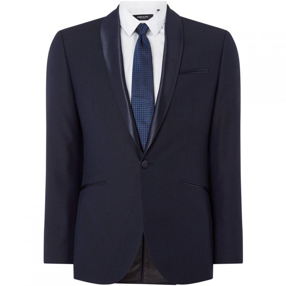 ケネス コール Kenneth Cole メンズ スーツ・ジャケット アウター【Kelvin Textured Slim Fit Suit Jacket】Navy