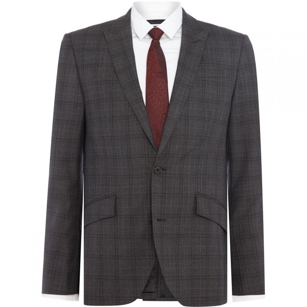 ケネス コール Kenneth Cole メンズ スーツ・ジャケット アウター【Douglas SB2 slim fit check suit jacket】Grey