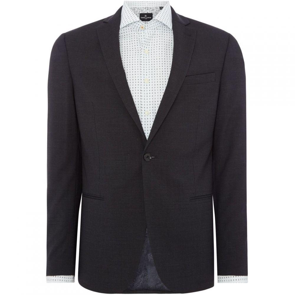 サイモン カーター Simon Carter メンズ スーツ・ジャケット アウター【Charcoal Stretch Suit Jacket】Charcoal