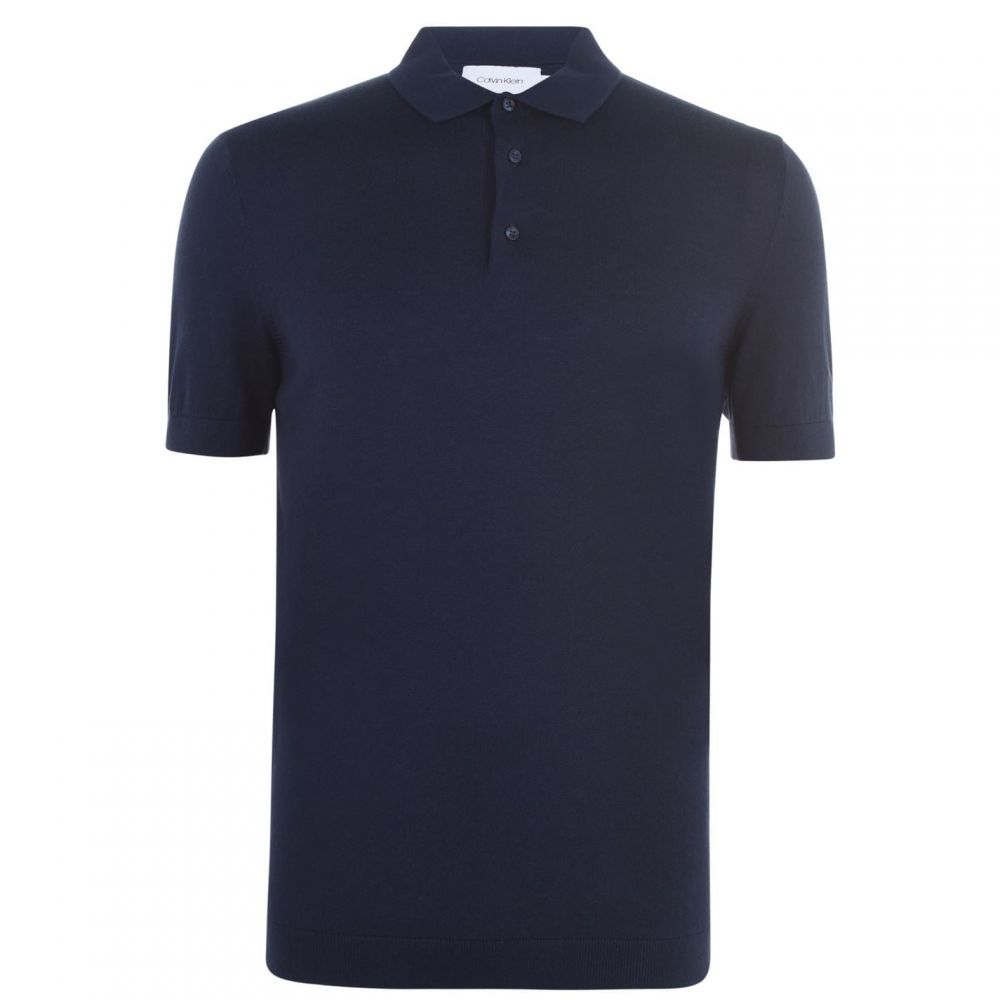 カルバンクライン Calvin Klein Tailoring メンズ ポロシャツ トップス【Silk Knit Polo Shirt】Navy