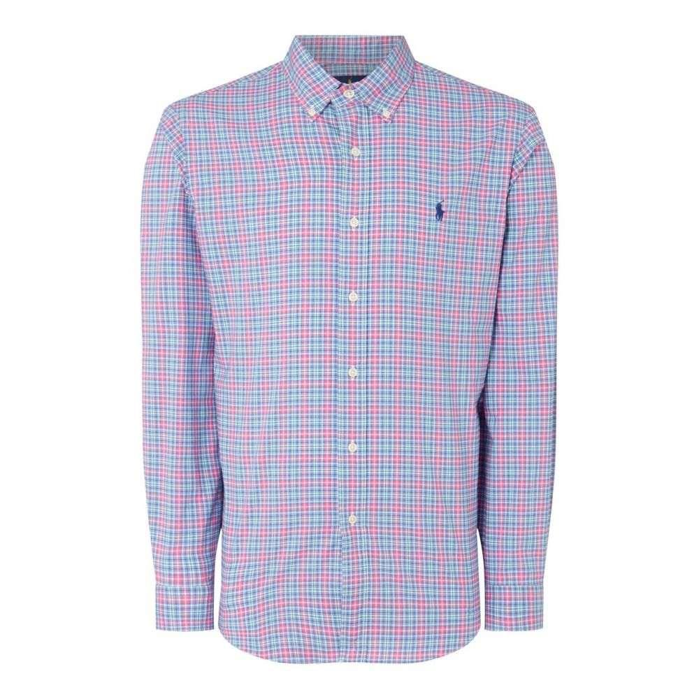 ラルフ ローレン 定価 メンズ トップス ポロシャツ サイズ交換無料 大幅にプライスダウン Polo Orange Chk SprngCol LS Lauren Ralph Sn92