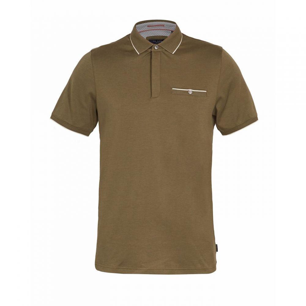 テッドベーカー Ted Baker メンズ ポロシャツ トップス【Fincham Cotton Polo Shirt】KHAKI