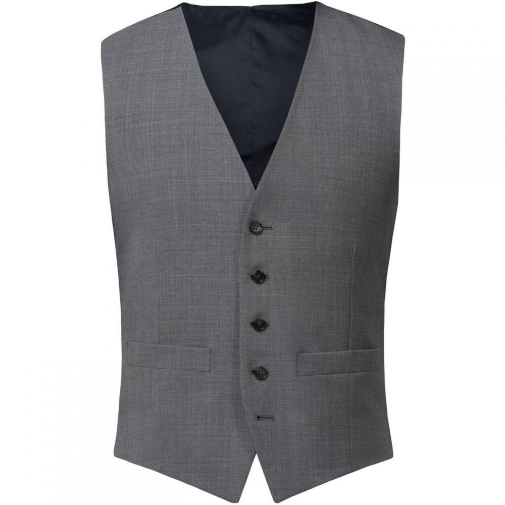 レーシング グリーン Racing Green メンズ ベスト・ジレ トップス【Grey Panama Waistcoat】Grey