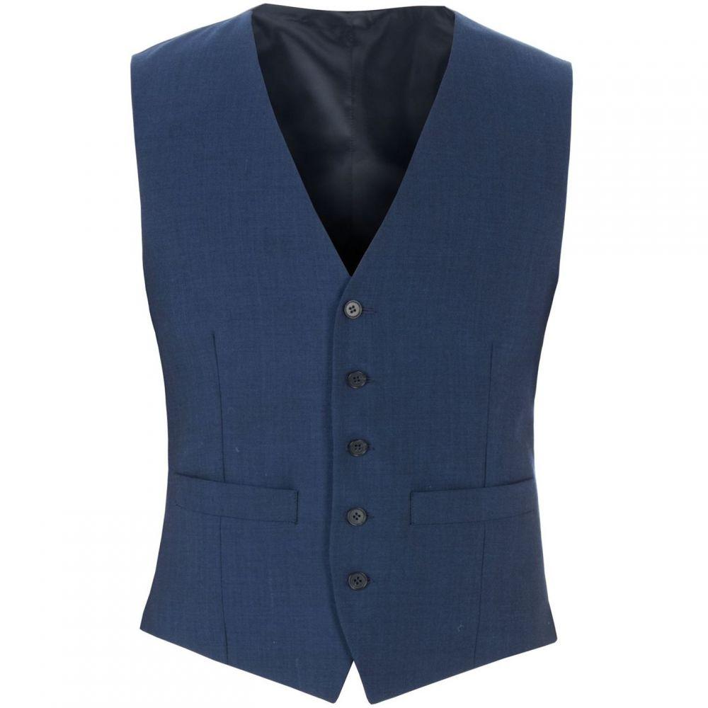 レーシング グリーン Racing Green メンズ ベスト・ジレ トップス【Anton Blue Panama Waistcoat】Blue