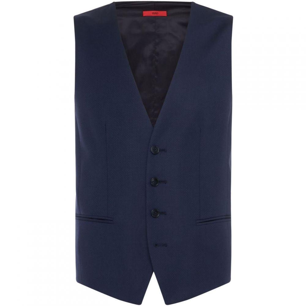 ヒューゴ ボス Hugo メンズ ベスト・ジレ トップス【Pin Dot Textured Waistcoat】Dark Blue