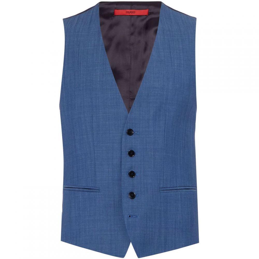 ヒューゴ ボス Hugo メンズ ベスト・ジレ トップス【Vox Slim Fit Three-Piece Suit Waistcoat】Blue