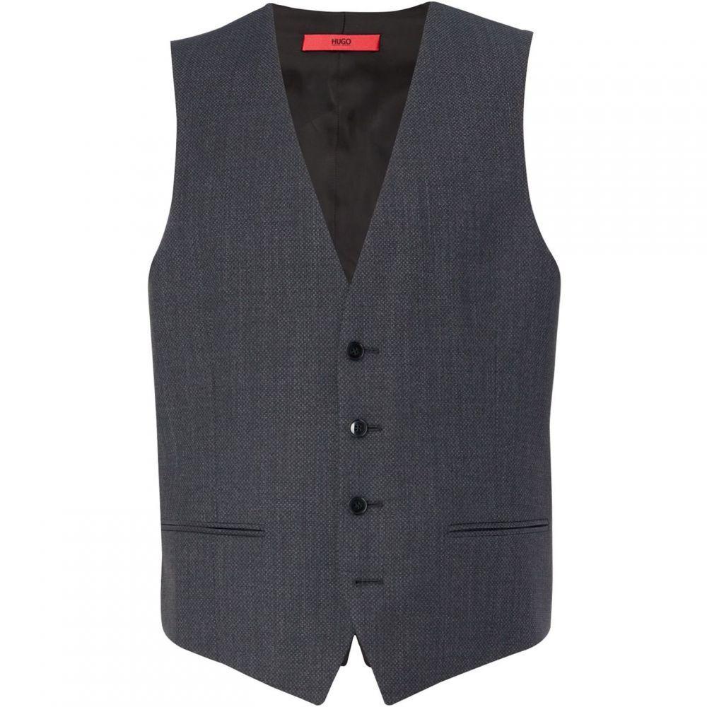 ヒューゴ ボス Hugo メンズ ベスト・ジレ トップス【Vin Slim Micro Structure Three-Piece Waistcoat】Charcoal