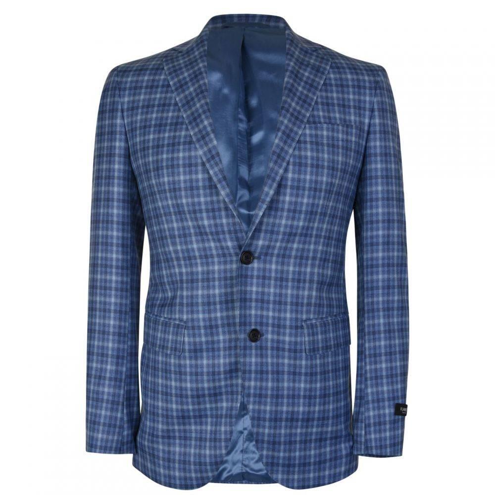 フランネルズ ブラック レーベル FLANNELS BLACK LABEL メンズ スーツ・ジャケット アウター【Checked Blazer】Light Blue
