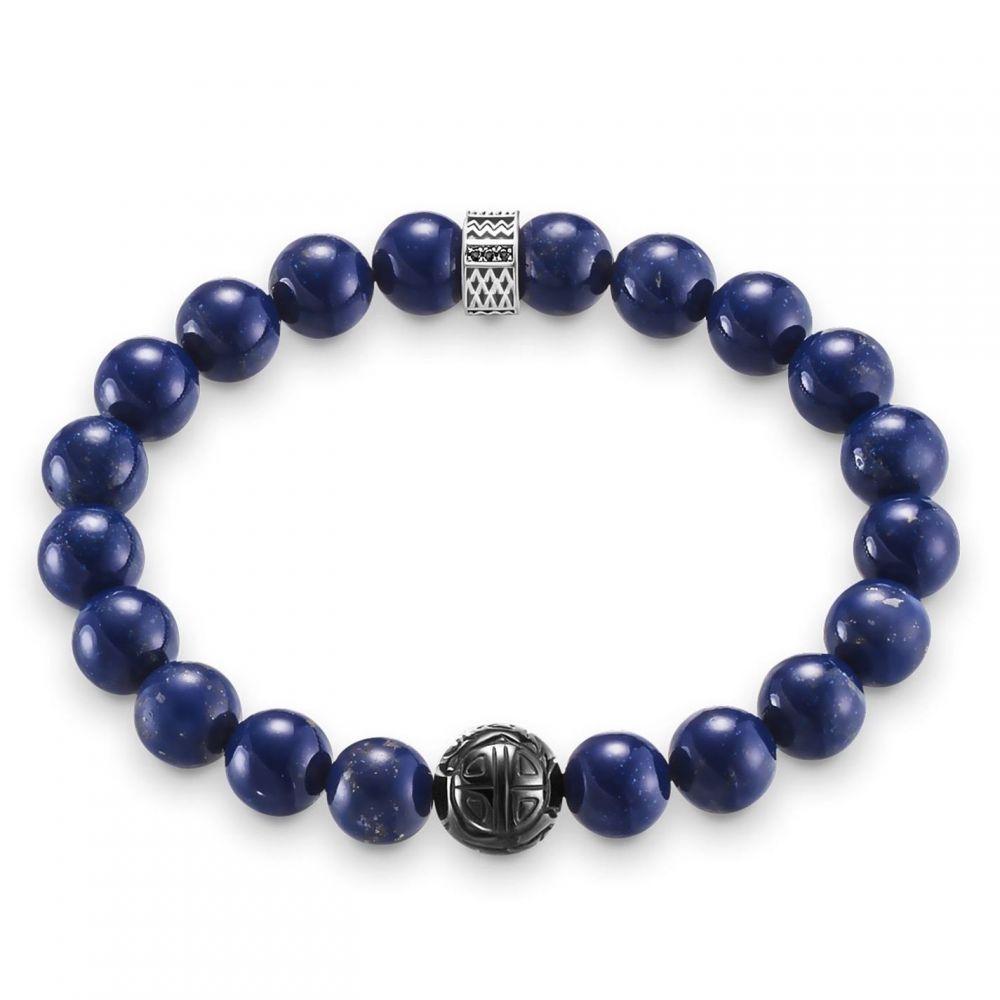 トーマスサボ Thomas Sabo レディース ブレスレット ハート ジュエリー・アクセサリー【Rebel at heart lapis lazuli beads bracelet】Dark Blue