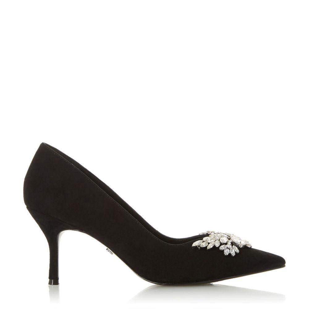デューン Dune レディース パンプス シューズ・靴【Bianca 2 Jewel Embellished Pointed Toe Court Shoes】Black